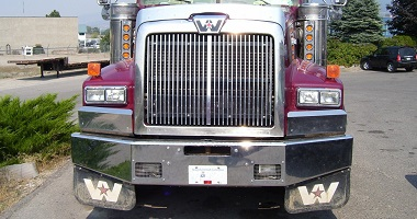 Western Star custom chrome bumpers